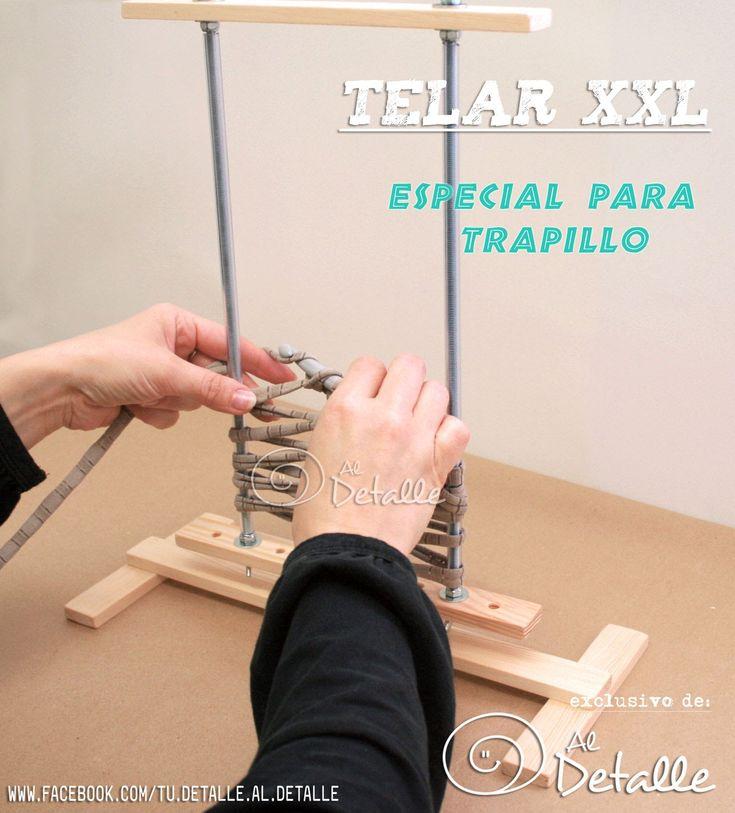 Tutorial Trapillo -  Telar XXL para trapillo - Tutorial  telar de horqui...