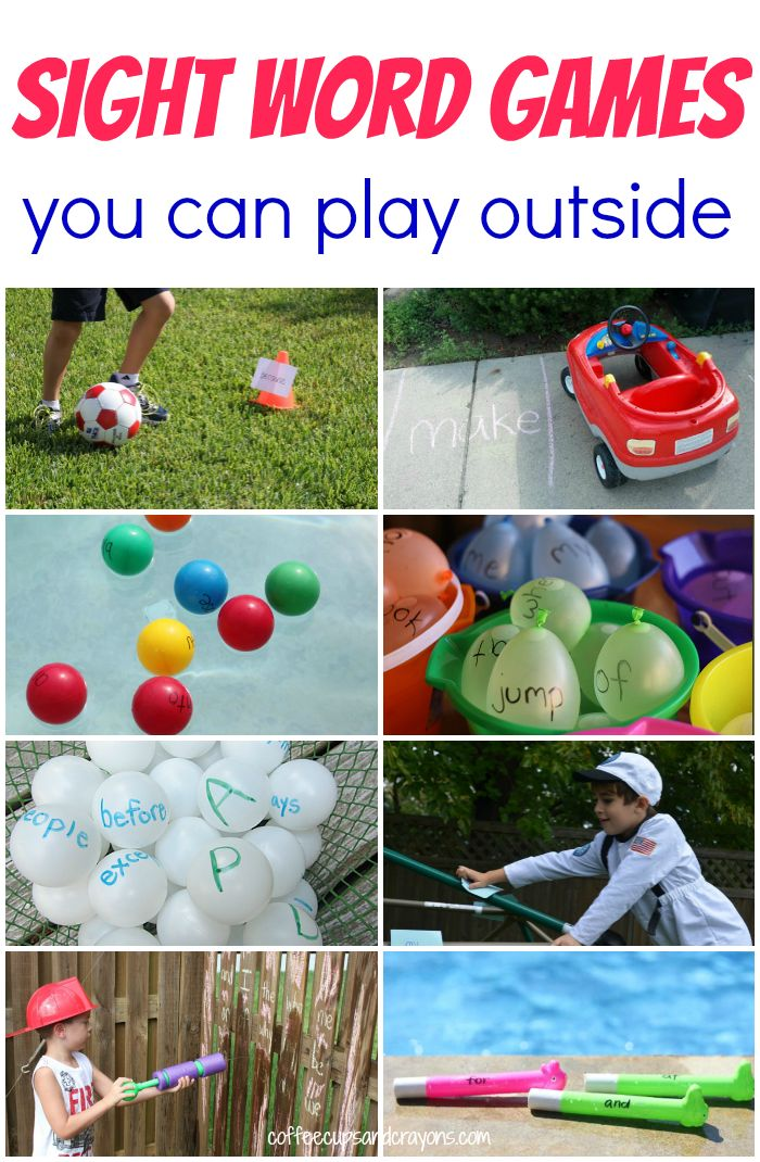 Lots of fun sight word games that are perfect to play outside--the perfect way to get some fresh air and learn at the same time! It's time to head outdoors and move and learn.