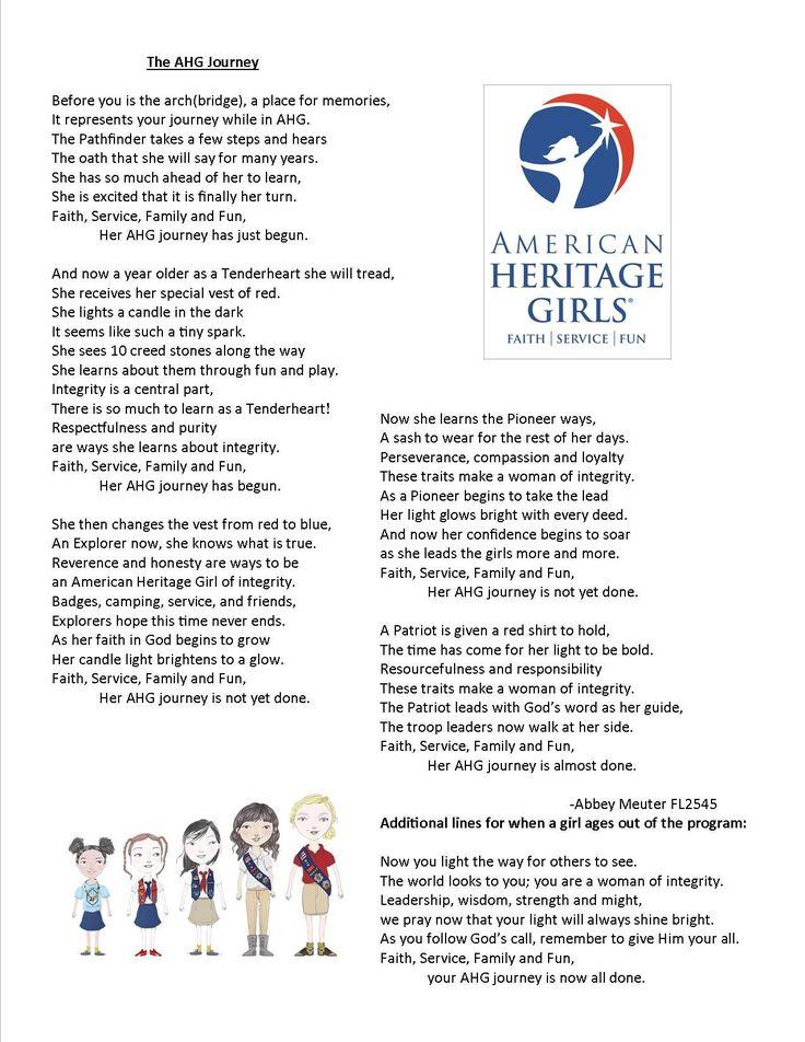 Pin by Katie Moore on AHG American heritage girls leader
