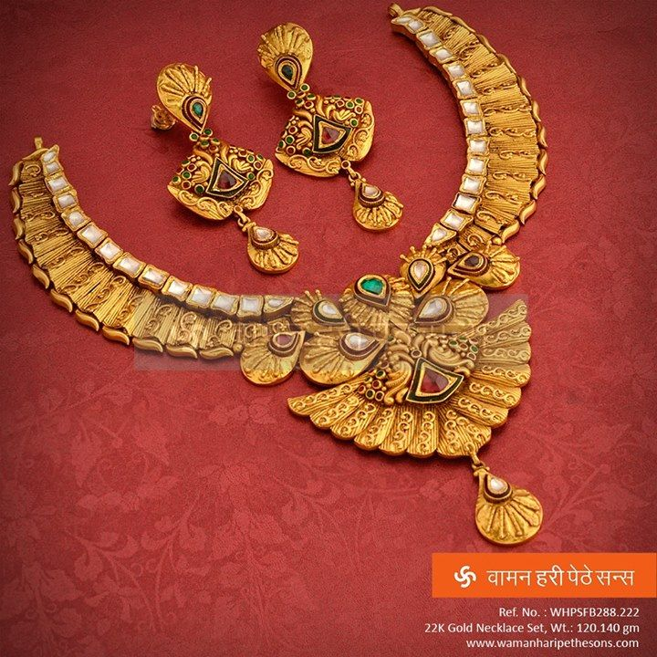 #Brilliantly #designed and #traditionally #crafted #gold #necklaceset for the #amazing look.