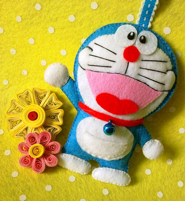 Felt Doraemon Ornament
