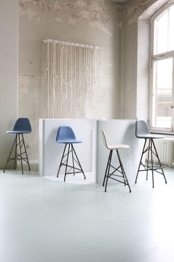 Chaise de bar / de restaurant / contemporaine / en cuir PYRAMIDE HIGH by Ruud-Jan Kokke Spoinq