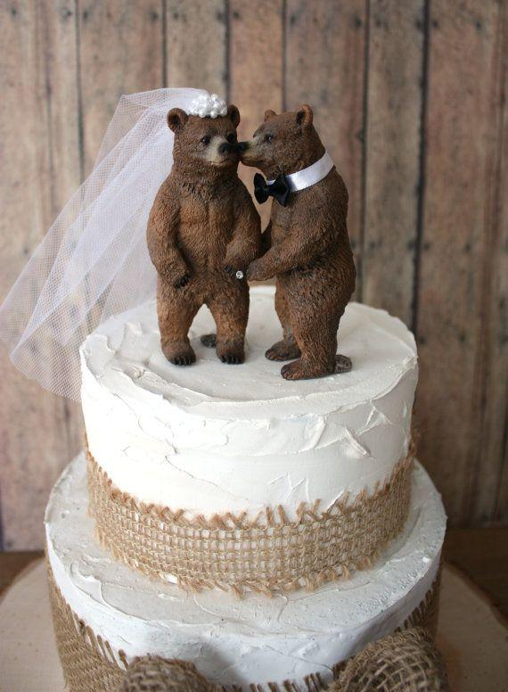 Bear Bride Groom Wedding Cake Toppers