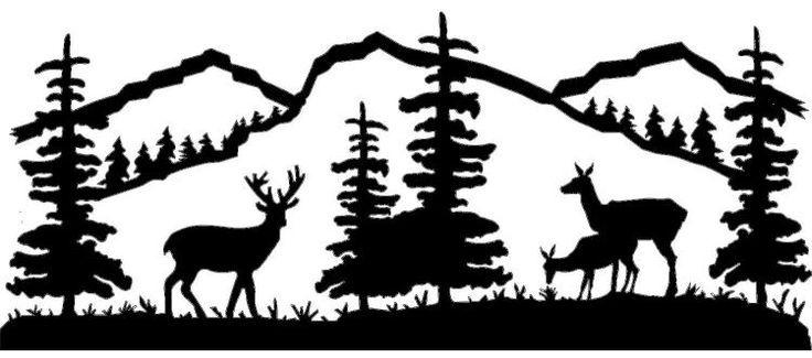 Deer Scene Silhouette Clip Art Google Search Cricut