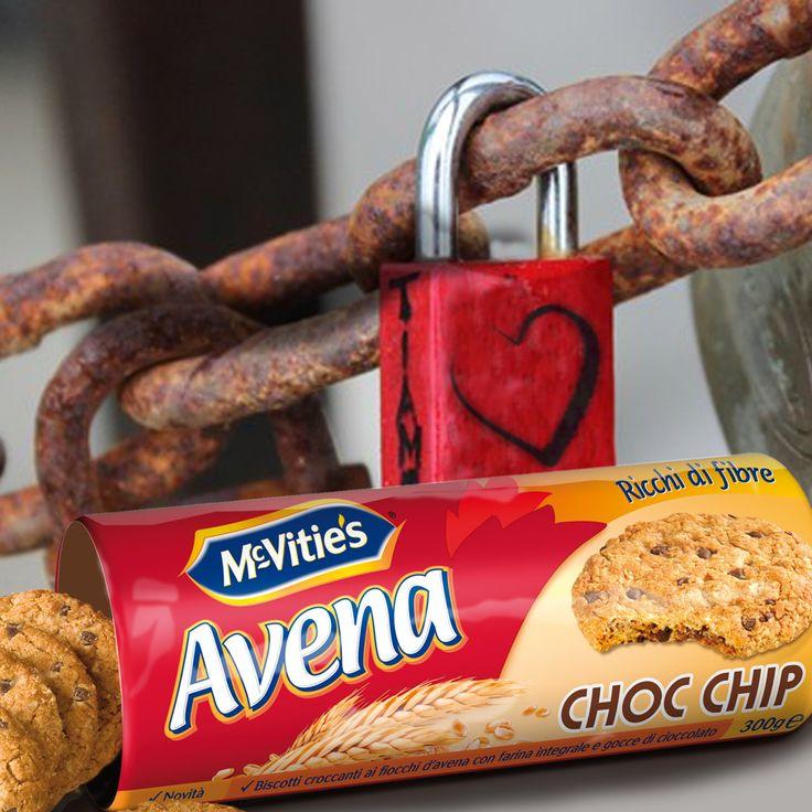 #mcvitiesitalia #mcvitiesavenachocchip #mcvities #biscuits #biscotti #lucchetto #cuore #catene #sweet #dolce #love #amoregustoso #food #cibo