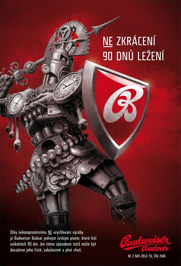 Czech steampunk knight defending tradion of Budvar beer (in campaign made by Kaspen/Jung Von Matt)