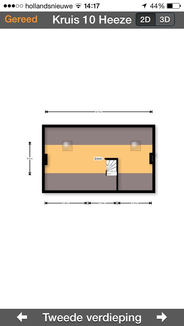 Ideale indeling - zolder met dakramen. Evt creëren extra kamer(s) en logeerbed. Opslag ligt op zolder boven garage.