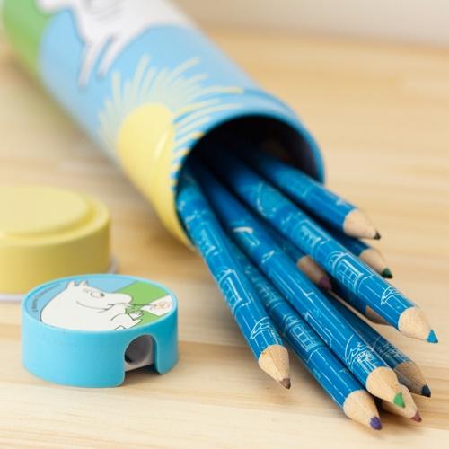 Moomin(Muumi)/ムーミン/ティン缶入り色鉛筆(12色/鉛筆削り付)/12色入り
