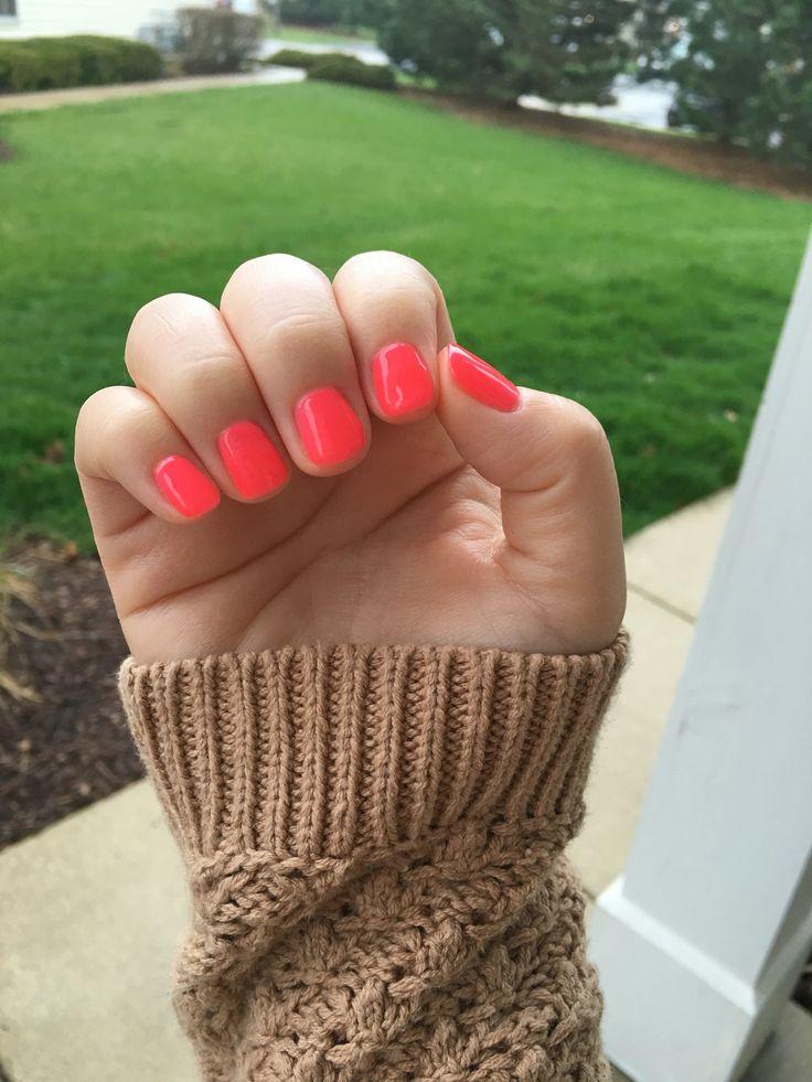 No Chip Manicure in a bright color!