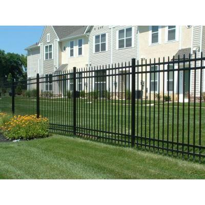 w aluminum black fence section