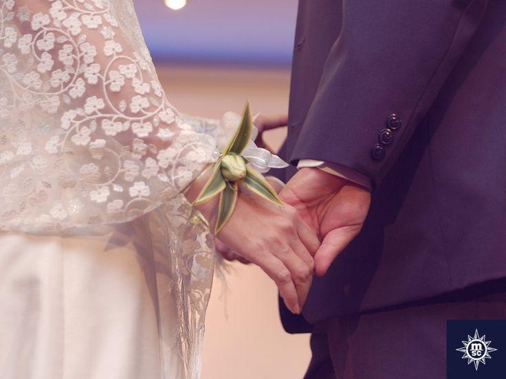 Een onvergetelijk en magisch moment. Een romantische gelofte om de liefde voor elkaar te vernieuwen!  #MSCCruises