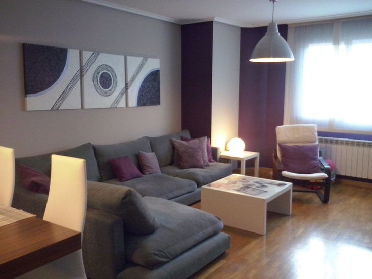 30 best living gris morado turquesa images on for Ideas para decorar apartamentos