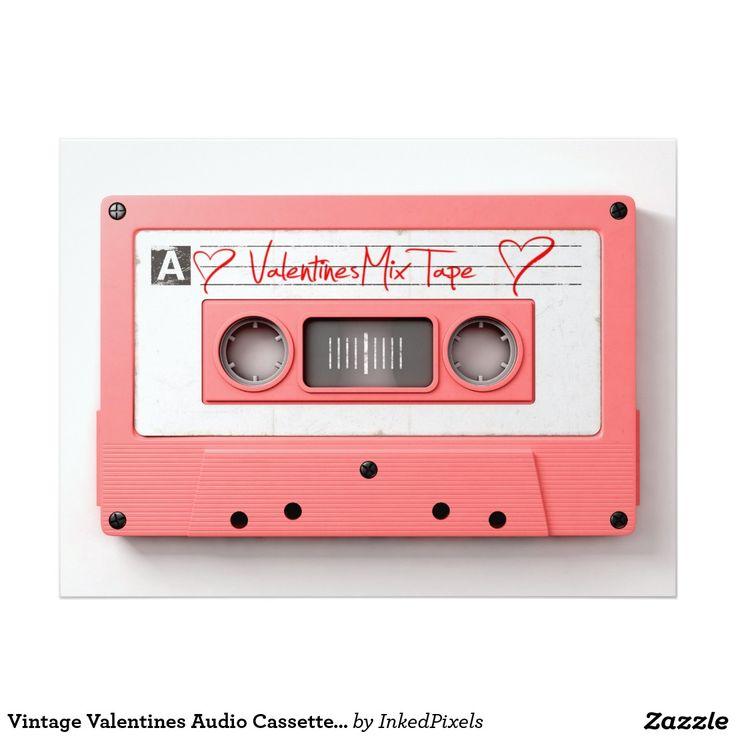 Vintage Valentines Audio Cassette Mix Tape