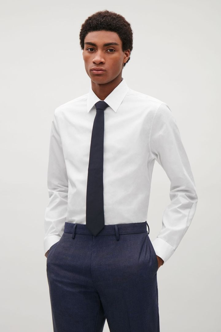 COS | Slim-fit shirt with hidden placket