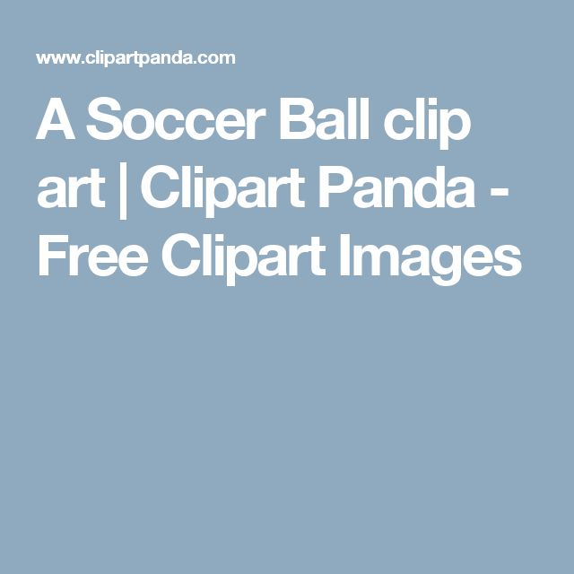 A Soccer Ball clip art | Clipart Panda - Free Clipart Images