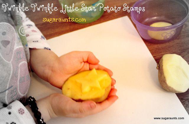 Potato Stamps - Twinkle Twinkle Little Star