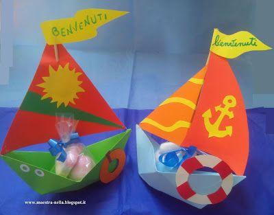 maestra Nella: Barchette di carta  'Benvenuti'