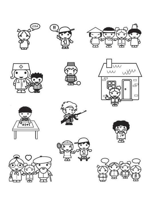 Kleurplaat rechten van het kind