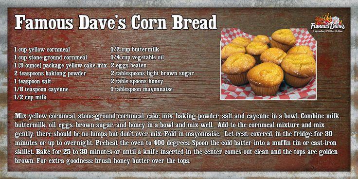 Famous Dave's Corn Bread
