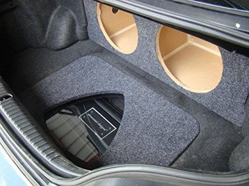 "Zenclosures Mazda Rx8 2-12"" Subwoofer Box with Amp Cover - Rotary Symbol Plexiglass"