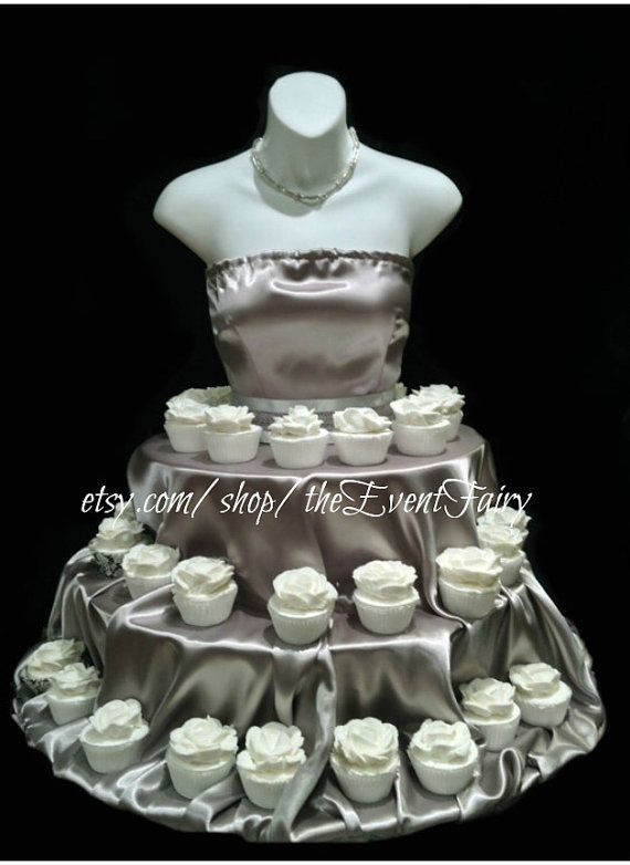 SILVER Couture Cupcake Stand for weddings showers birthday