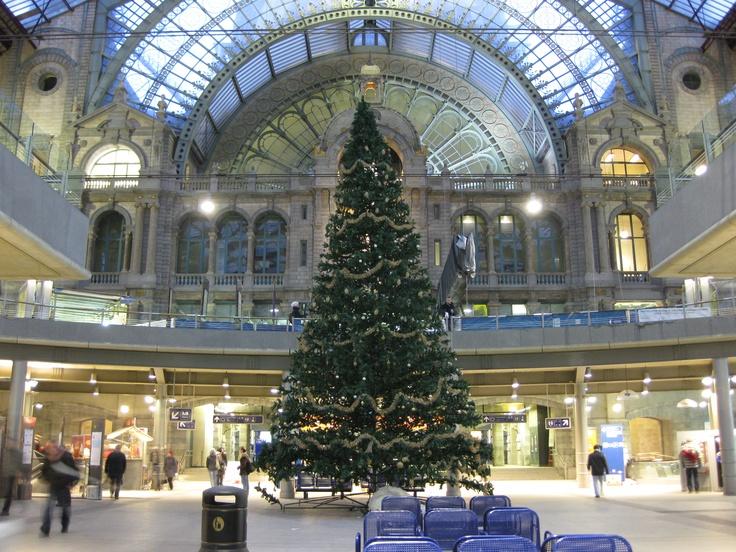 Antwerp, Belgium train station.