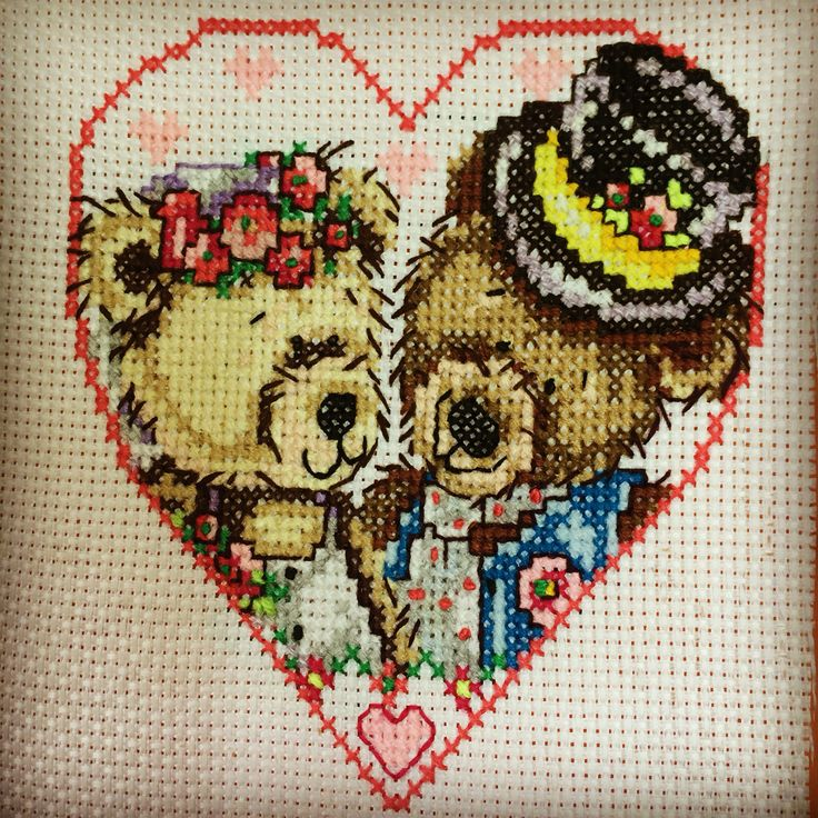 Cross stitch- love