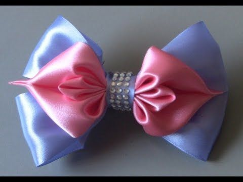 ribbon with folds - DIY - YouTube