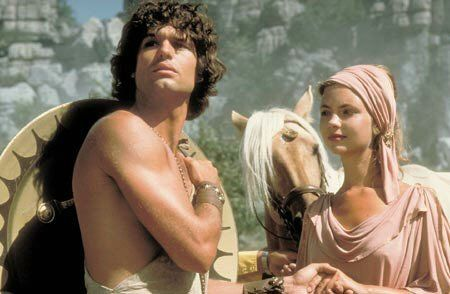 Still of Harry Hamlin and Judi Bowker in Clash of the Titans