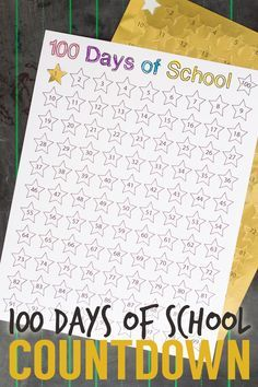"The countdown begins! If you want to give your children or class something to look forward to this school year, try this easy-to-do ""100 Days of School"" countdown chart!"