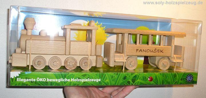 Spielzeug Kinderzug aus Holz mit Gravur