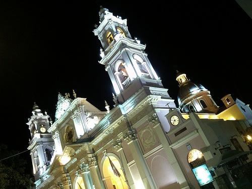 Salta, Catedral y noche
