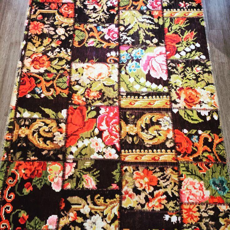 Dantell baskili ve yikanabilir yer urunleri // Dantell printed and washable mats. #Dantell #Dantellofficial #homeislife #hometextile #evim #mat #paspas