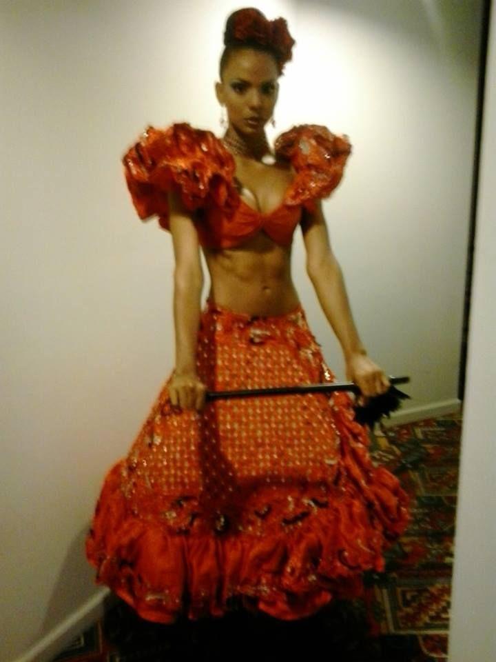 Traje inspirado en Doña Bárbara - Andrea Escobar - para el Miss Hispano América 2013..