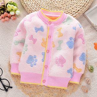 Весной и осенью и зимой пальто толще женского пола ребенка 3-6 месяцев, 1-2 лет ребенок пальто мальчиков и девочек теплый флис кардиган