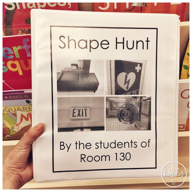A Pinch of Kinder: 2D Shape Hunt Class Book