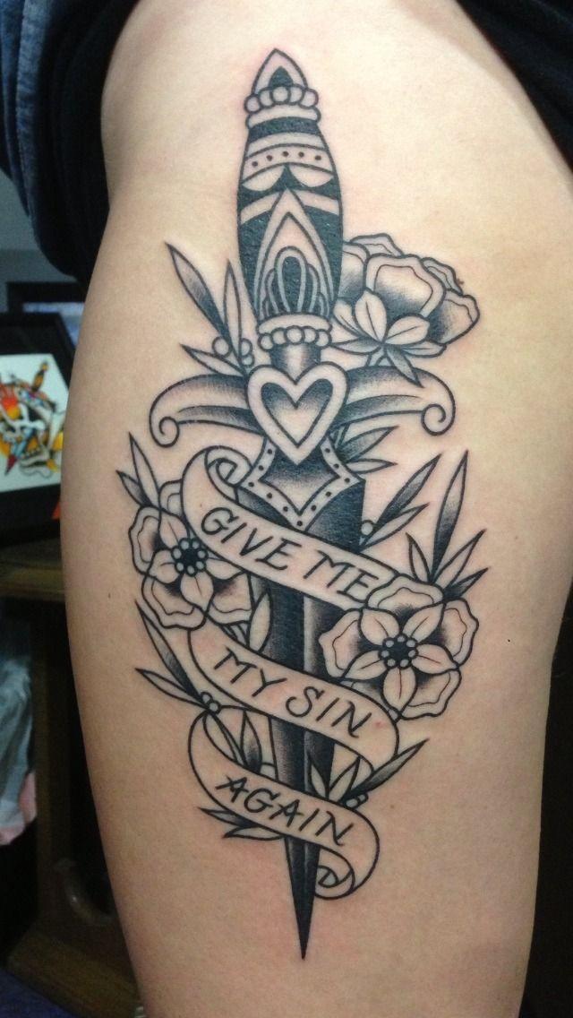 Tatuajes De Dagas En La Pierna Recopilacion De Disenos Tatuaje Daga Tatuajes Tatuajes Muslo Femenino