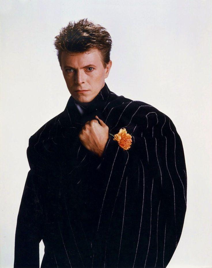 David Bowie in Yohji Yamamoto, styled by Roger K Burton - 1984 © Greg Gorman