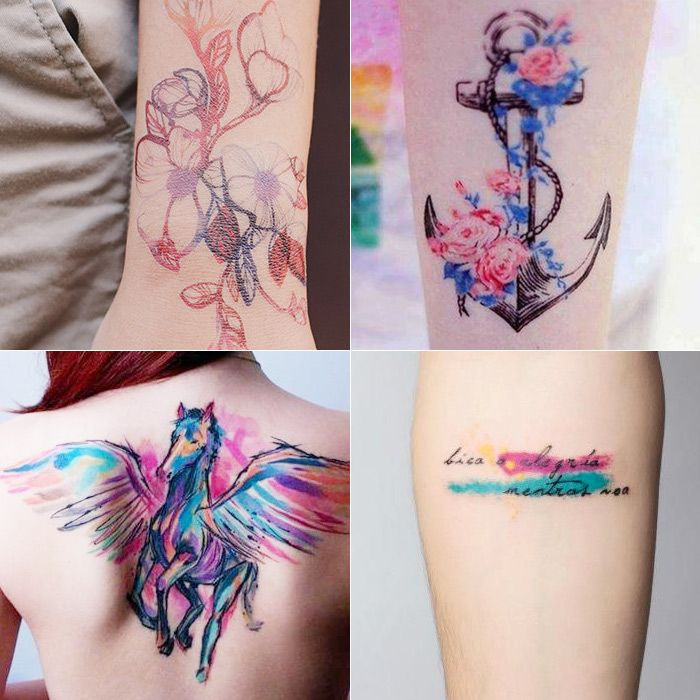 As fantásticas tatuagens aquarela | Watercolor Tatoos