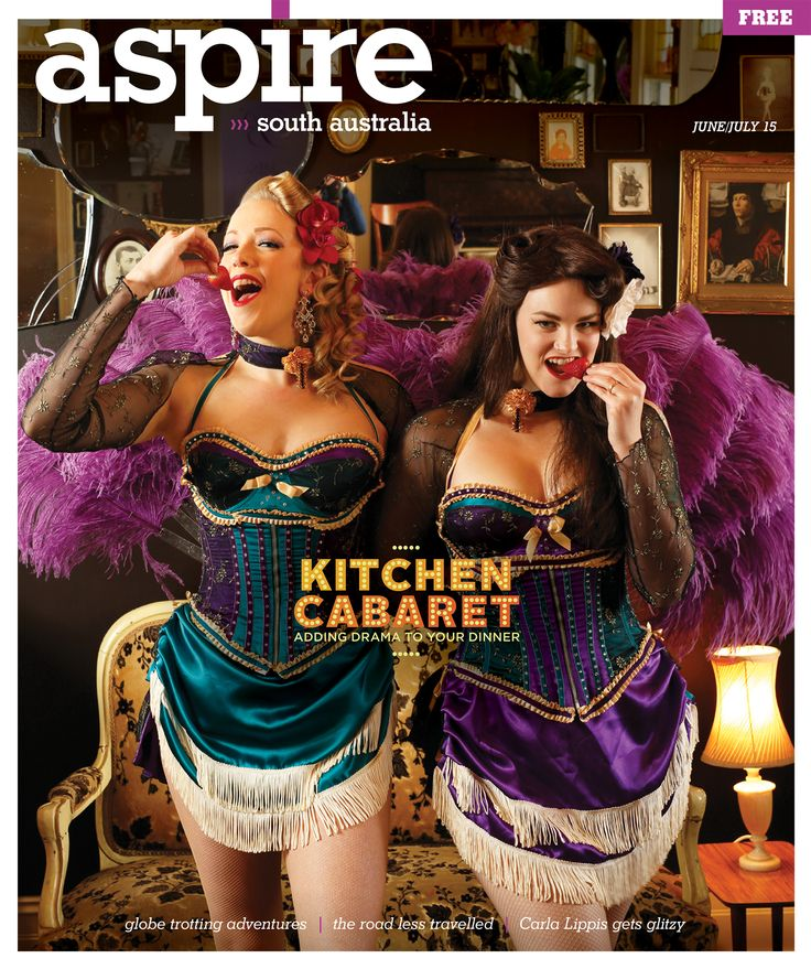 I was so excited to see these burlesque costumes on the cover of ASPIRE magazine June/July 2015. Worn by Sapphire Snow and Luna Eclipse and made by me 😀