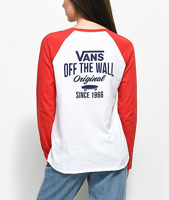 Vans Skate Stack Red Long Sleeve Raglan T-Shirt