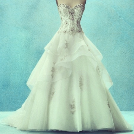 Disney wedding dress I would love to try this on someday!