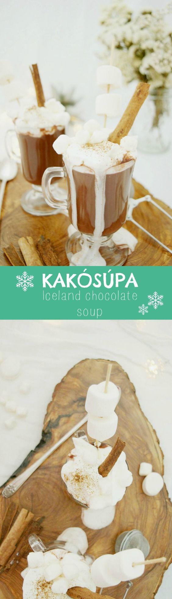 A delicious Icelandic Hot Chocolate soup! Cold days need hot chocolate days!! (English recipe included) Una deliciosa sopa de chocolate caliente típica de Islandia-Kakósúpa. Fantástica!!