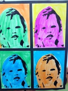 Andy Warhol-Creative Tots Preschool Art Show. Great ideas throughout blog posts Water cycle