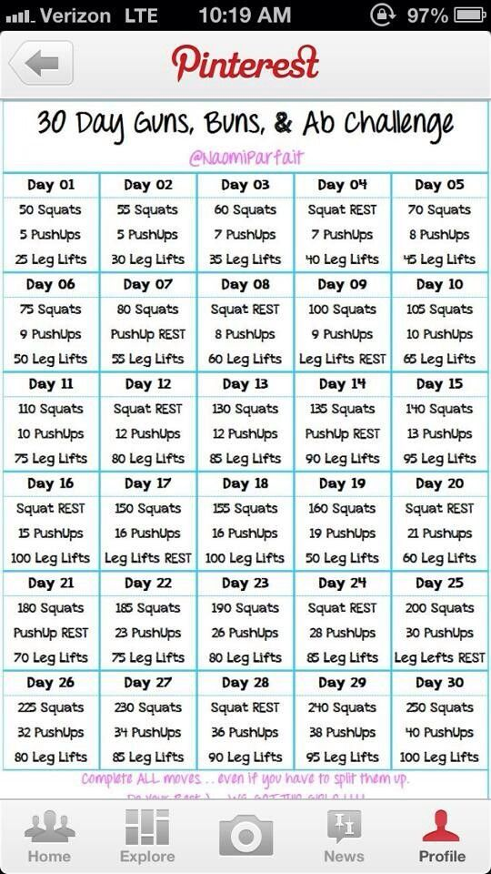 Collecting different types of workouts and challenges these past few months to create one for myself, inspiration :)