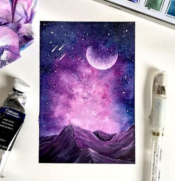 40 Detailed Miniature Painting Ideas Bored Art Miniature Painting Galaxy Art Pastel Art