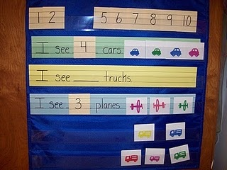 Transportation Pocket Chart.  The kids LOVED this circle time activity!