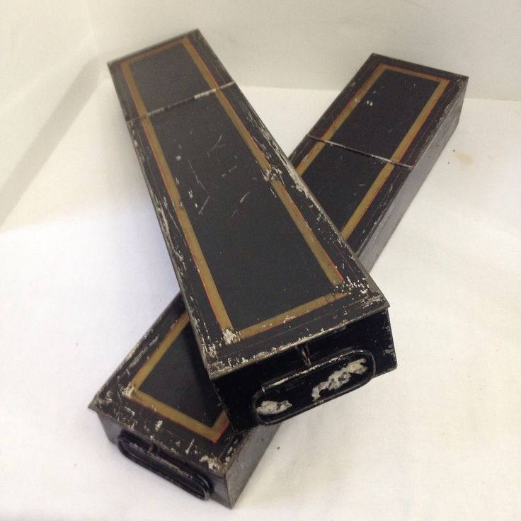 Awesome antique pair of bank safe deposit boxes with hasps!
