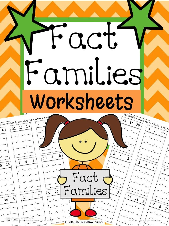 Fact Families are a foundational skill that students need to learn. These worksheets allow students the opportunity for extra practice. They can be used for assessment, daily practice, or exit tickets
