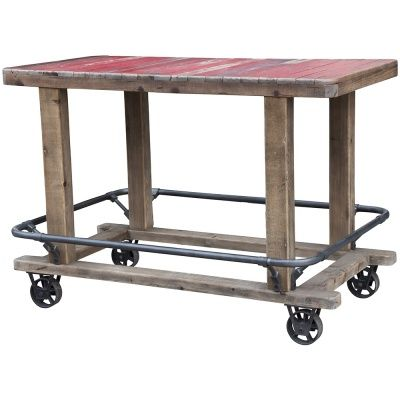 Tip #4   Utilitarian   Sturdy, practical, hard-wearing, functional pieces are central to an industrial style interior   I love this simple, utilitarian Cadiz cart bar table from Barker & Stonehouse. Mounted on wheels, it's easy to move around, enabling flexible living. It's the perfect height for use as a kitchen island or breakfast bar.